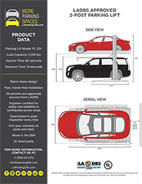 LA Parking Lifts Spec Sheet
